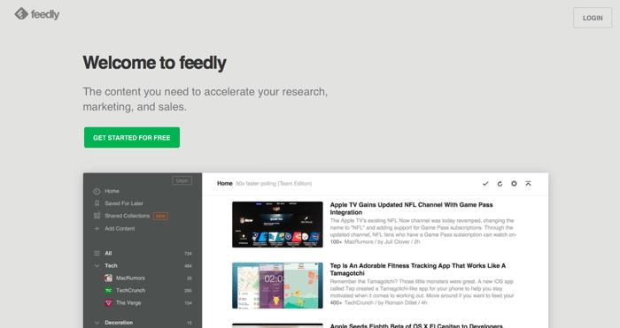 Feedly vous permet rapidement le meilleur des blogs