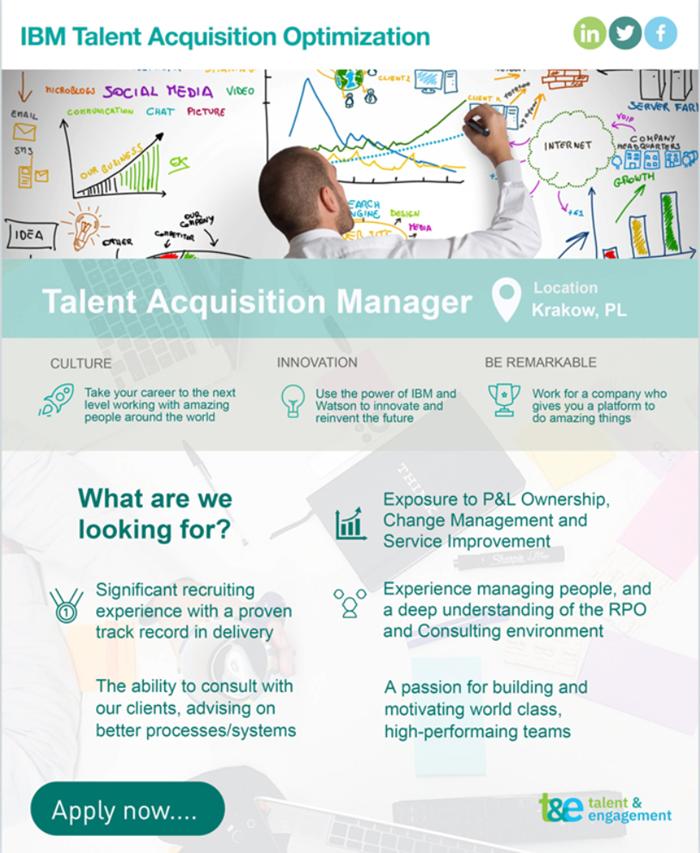 Une infographie en tant qu'offre d'emploi !