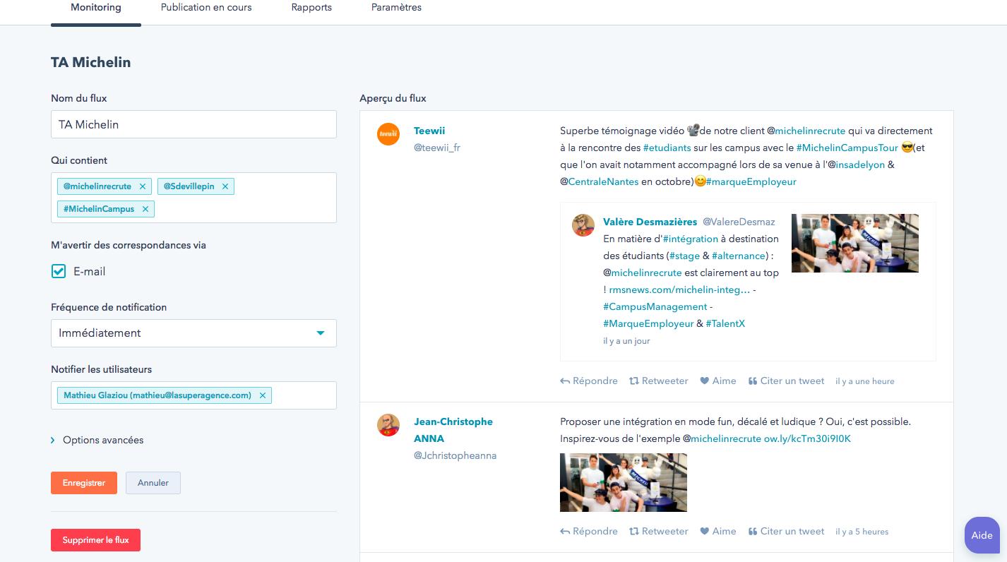 Exemple de monitoring Hubspot pour l'Account-Based Marketing