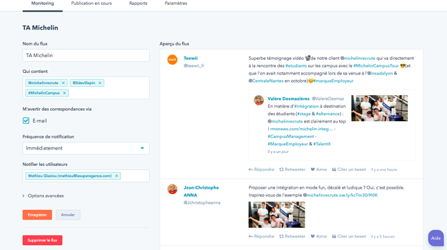 Exemple de monitoring Hubspot pour l'Account-Based Marketing