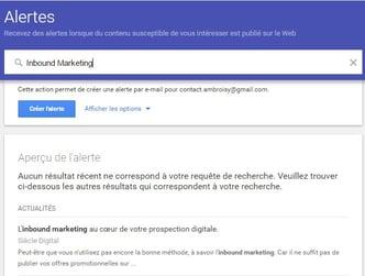 Alerta de Google é a forma máis sinxela de usar'outil de curation le plus simple à utiliser