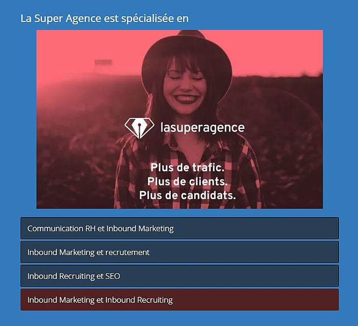 Le test de sélection de La Super Agence