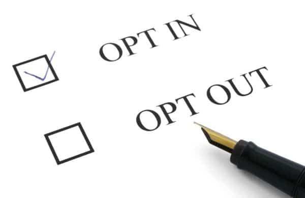 L'Opt-in est une action de Permission Marketing