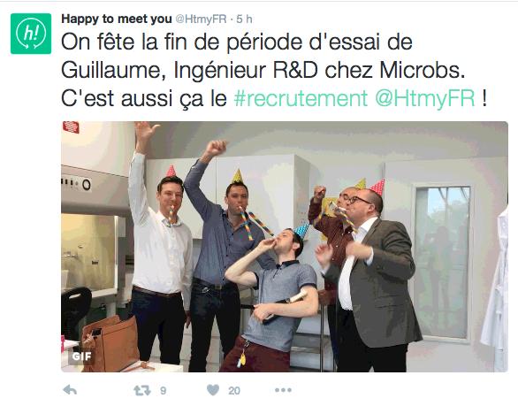 Guillaume et ses collègues sont très contents!