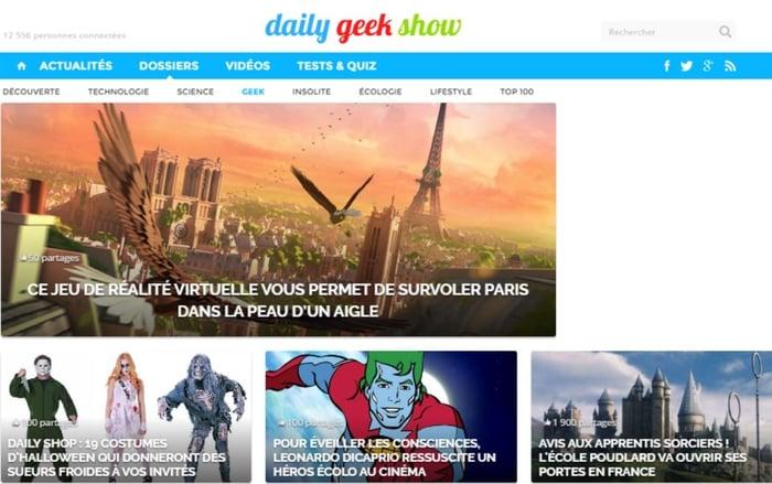 Le Daily Geek Show alterne curation et contenu original