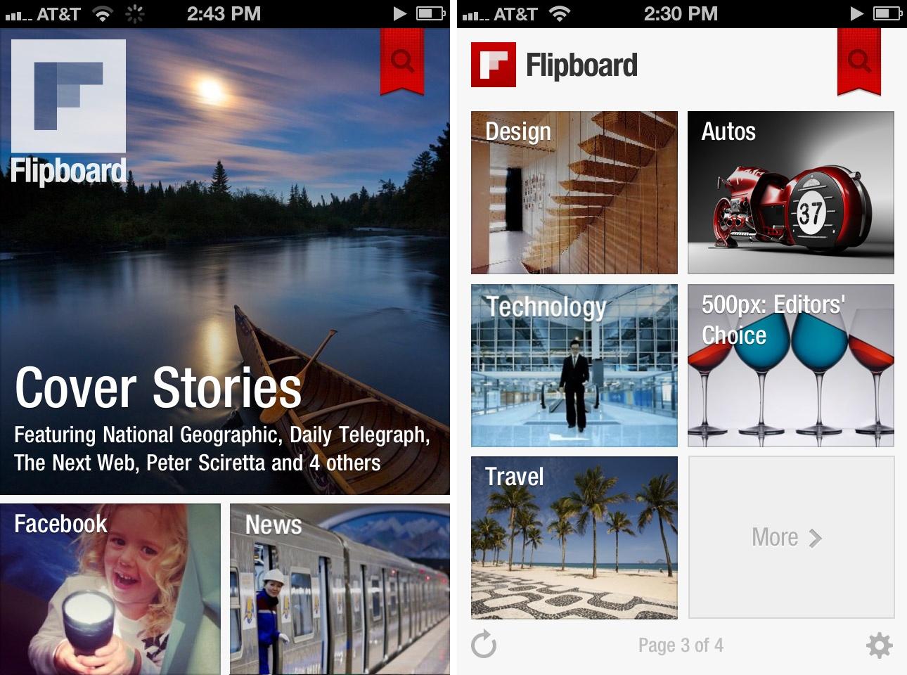 Flipboard offre probablement la plus belle interface utilisateur