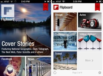 Flipboard probablemente ofrece la interfaz de usuario más hermosa