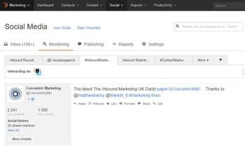 La herramienta Curation HubSpot le permite monitorear la información en Twitter'outil de curation d'Hubspot vous permet de monitorer les informations sur Twitter