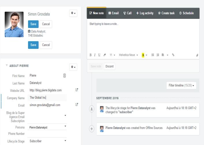 Hubspot, un exemple de CRM de recrutement