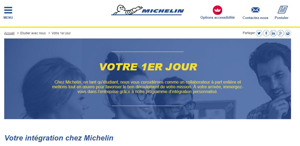 Le site recrutement de Michelin