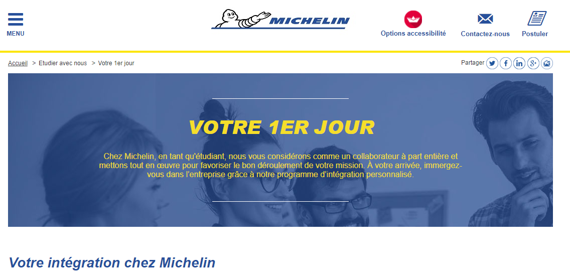 Le site recrutement de Michelin