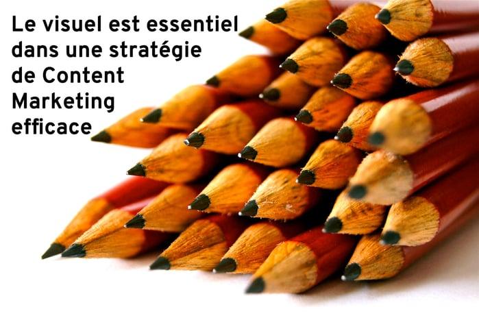 Le visuel doit faire partie du stratégie de Content Marketing, en support comme en outil principal